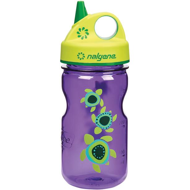 Nalgene Everyday Grip-n-Gulp Flasche 350ml Kinder violett turtles