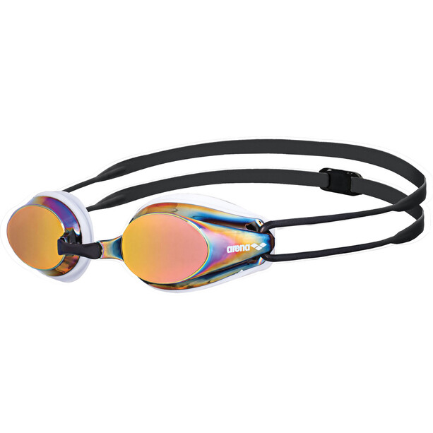 arena Tracks Mirror Goggles white-red revo-black