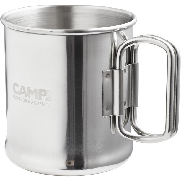 CAMPZ Stainless Steel Mug 300ml with Folding Handle