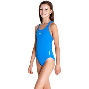 speedo Essential Endurance+ Medalist Badeanzug Mädchen neon blue neon blue