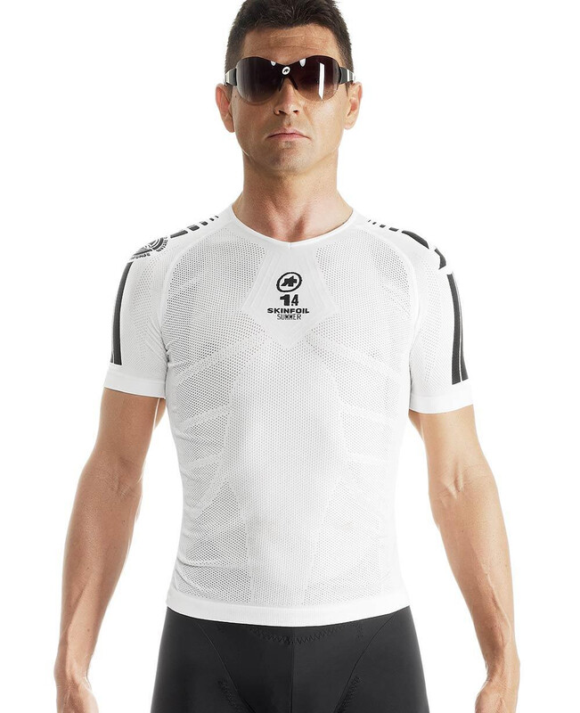 assos SS.skinFoil_Summer_Evo7 Base Layer Unisex holyWhite XS-S 2018 Accessoires