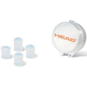 Head Silicone Moulded Bouchons d'oreille, transparent transparent