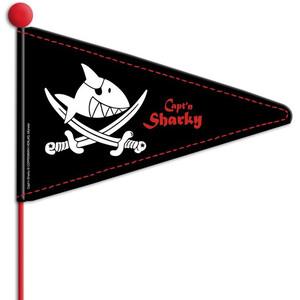 Bike Fashion Capt'n Sharky Maszt flagowy, czarny/biały czarny/biały