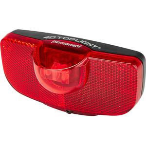 Busch + Müller 4D-Toplight Éclairage arrière fonctionnant sur piles permanent, noir/rouge noir/rouge