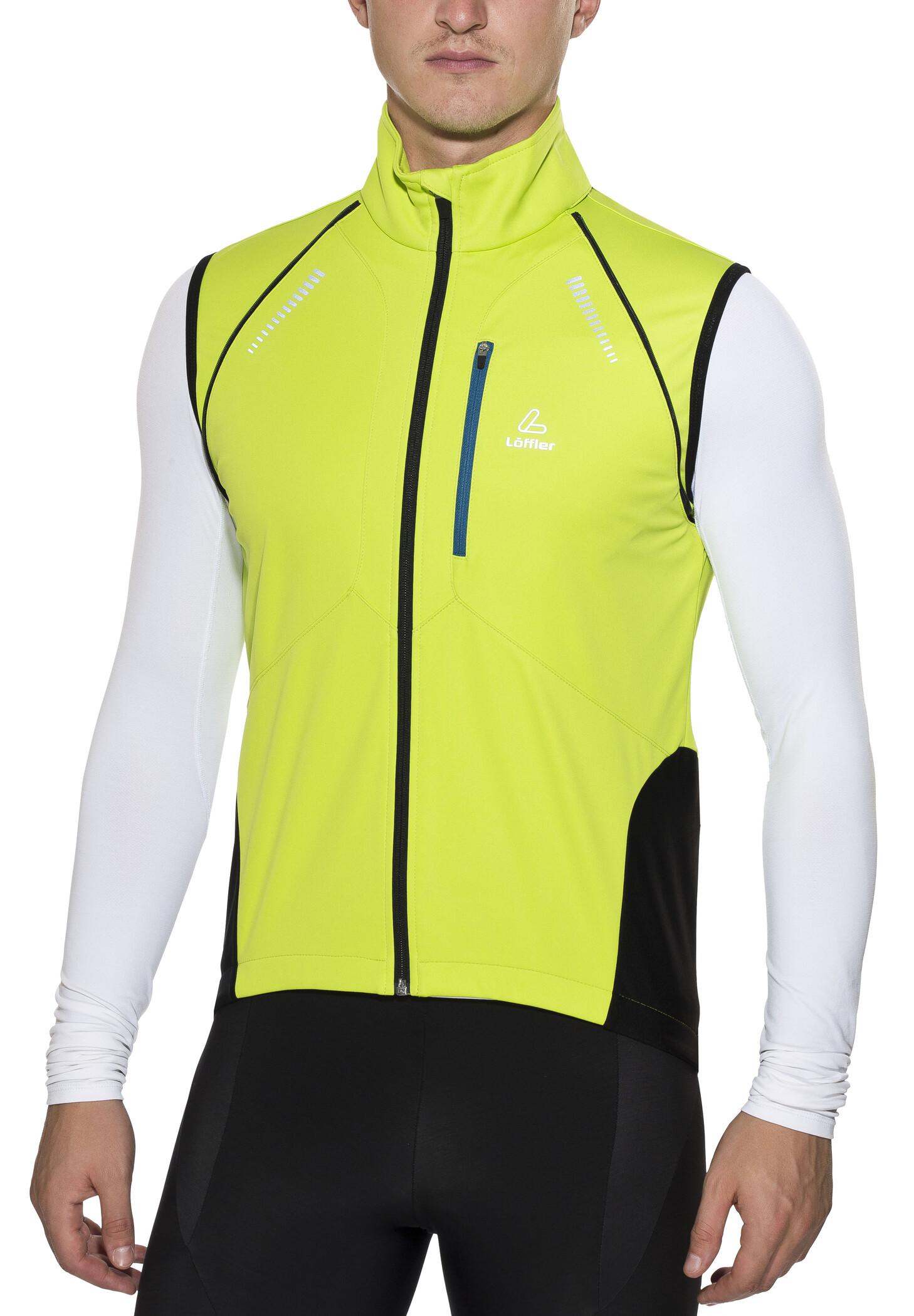 Löffler San Remo WS Softshell Light Zip Off Fahrrad Jacke Herren hellgrün