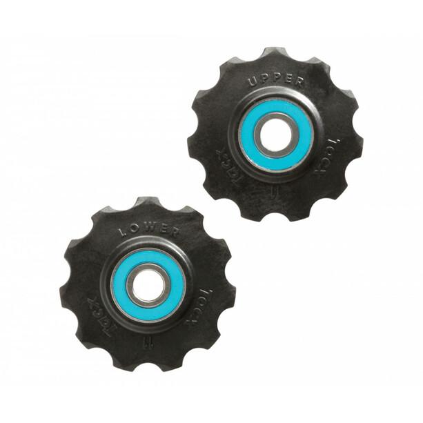 Tacx Ceramic Jockey Wheels 11T black/blue
