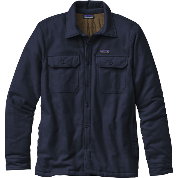 Patagonia Insulated Fjord Flannel Jacket Herr navy blue