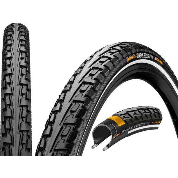 "Continental Ride Tour Clincher Tyre 28"" Reflex, noir"