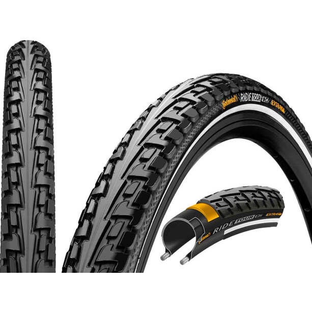 "Continental Ride Tour Clincher Tyre 26x1.75"" black"