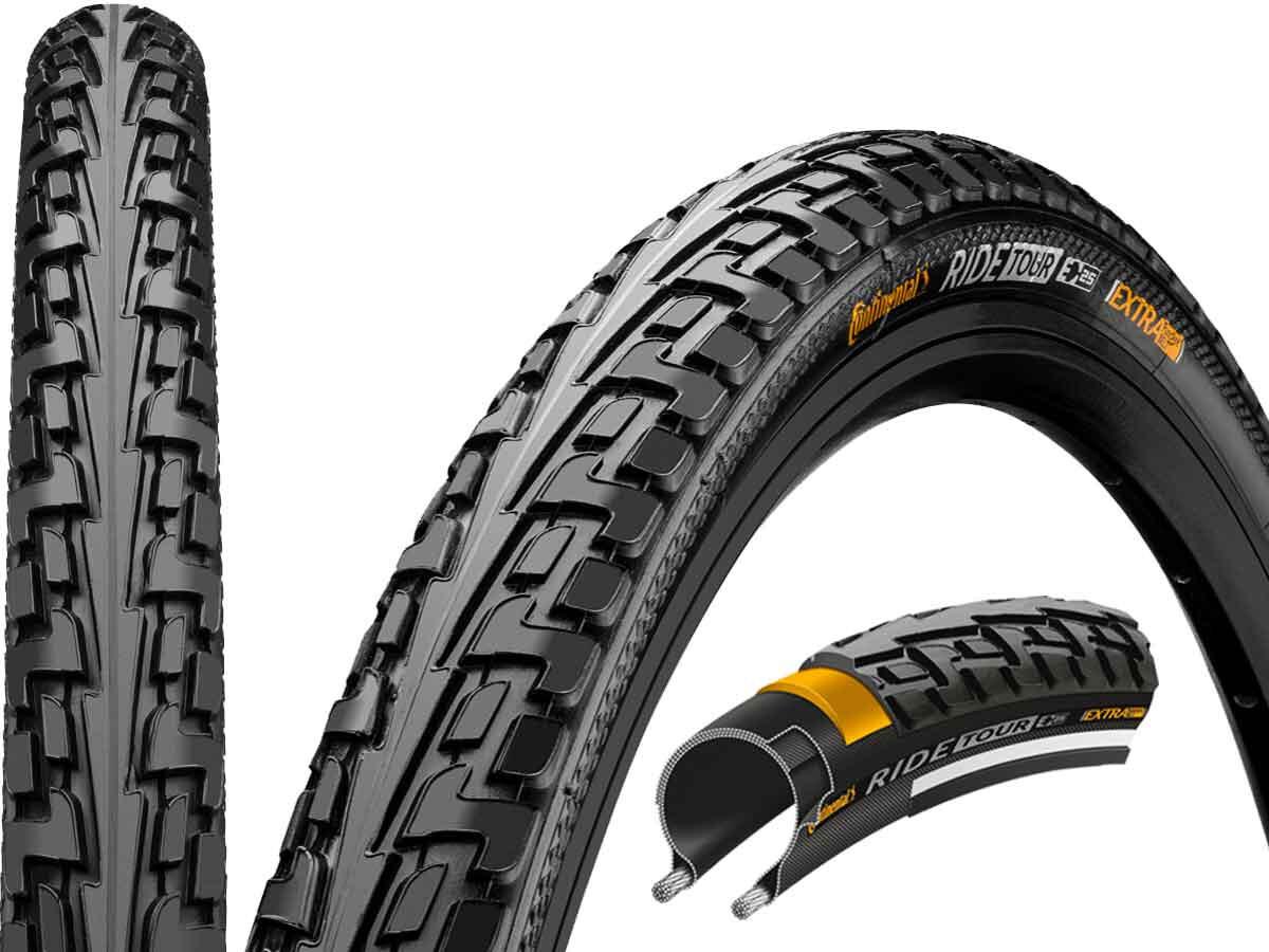 Continental Reifen RIDE Tour 42-635 28 Zoll Draht schwarz Reflex