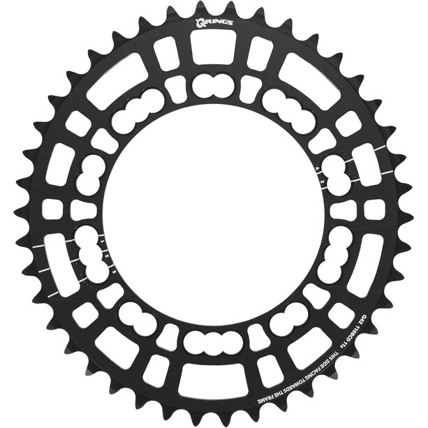 Rotor Q-Ring Road Kettenblatt 110mm 5-Arm innen schwarz