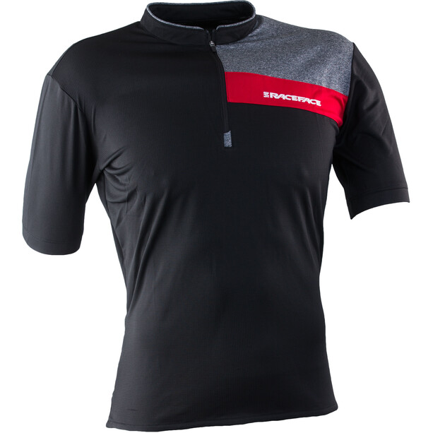 Race Face Podium Kurzarm Trikot Herren black/red