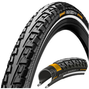 "Continental Ride Tour Clincher Tyre 26/27.5x1 1/2x2"" Reflex, noir noir"