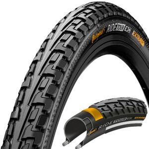 """Continental Ride Tour Clincher Tyre 27x1 1/4"""" Svart Svart"""