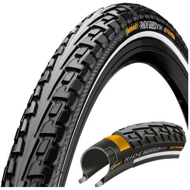 Continental Ride Tour Reifen 27 x 1 1/4 Zoll Draht Reflex schwarz/schwarz