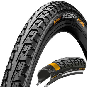 """Continental Ride Tour Clincher Tyre 27x1 3/8x1 1/2"""" svart svart"""