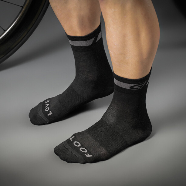 GripGrab Merino Regular Cut Socken black