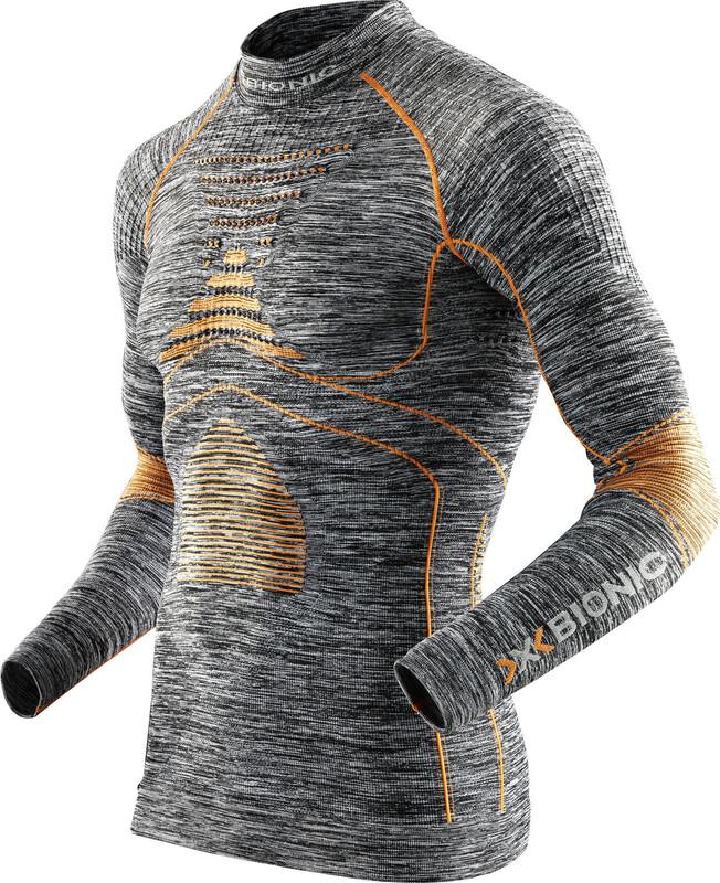 X-Bionic Accumulator Evo Melange Shirt L/S Turtle Neck Men Grey Melange/Orange XXL 2018 Unterhemden