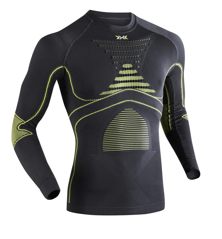 X-Bionic Accumulator Evo Shirt L/S Men Charcoal/Yellow XXL 2018 Unterhemden
