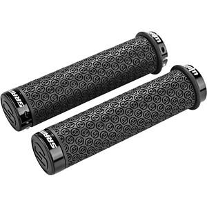 SRAM DH Silikongriffe mit Schraubsicherung schwarz schwarz