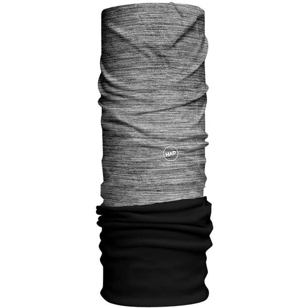 HAD Solid Stripes Fleece Tour de cou, gris/noir
