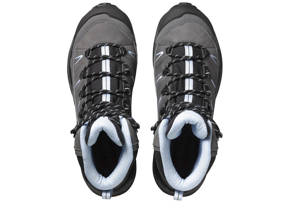 salomon x ultra trek gtx chaussures femme gris sur. Black Bedroom Furniture Sets. Home Design Ideas