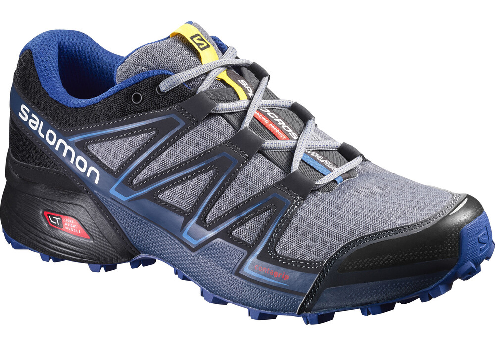 salomon speedcross vario chaussures de running homme gris bleu sur. Black Bedroom Furniture Sets. Home Design Ideas