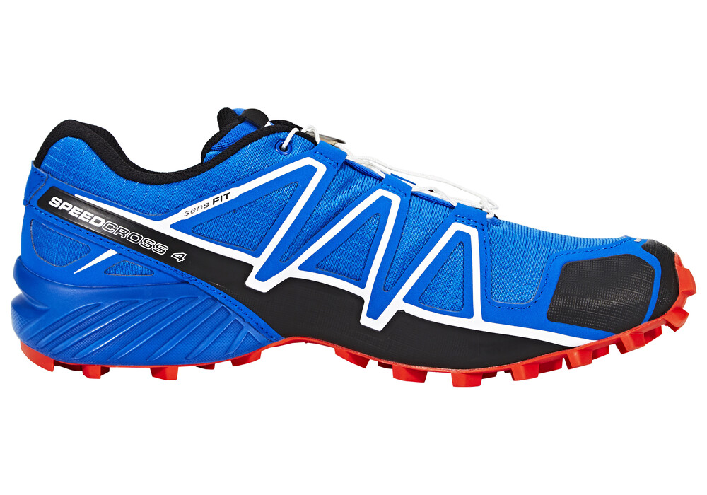 salomon speedcross 4 chaussures de running homme rouge bleu sur. Black Bedroom Furniture Sets. Home Design Ideas