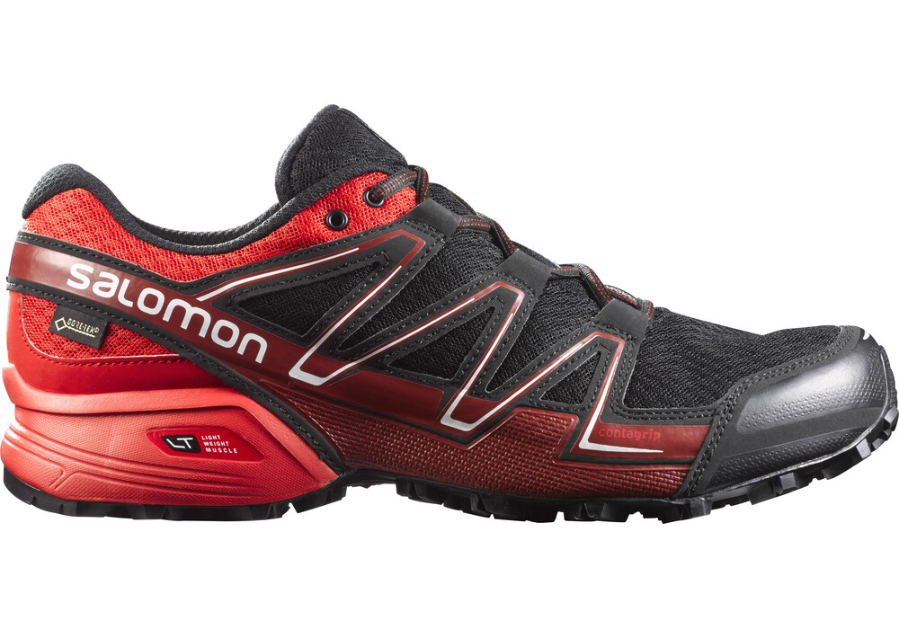 salomon speedcross vario gtx chaussures de running homme rouge noir boutique de v los en. Black Bedroom Furniture Sets. Home Design Ideas