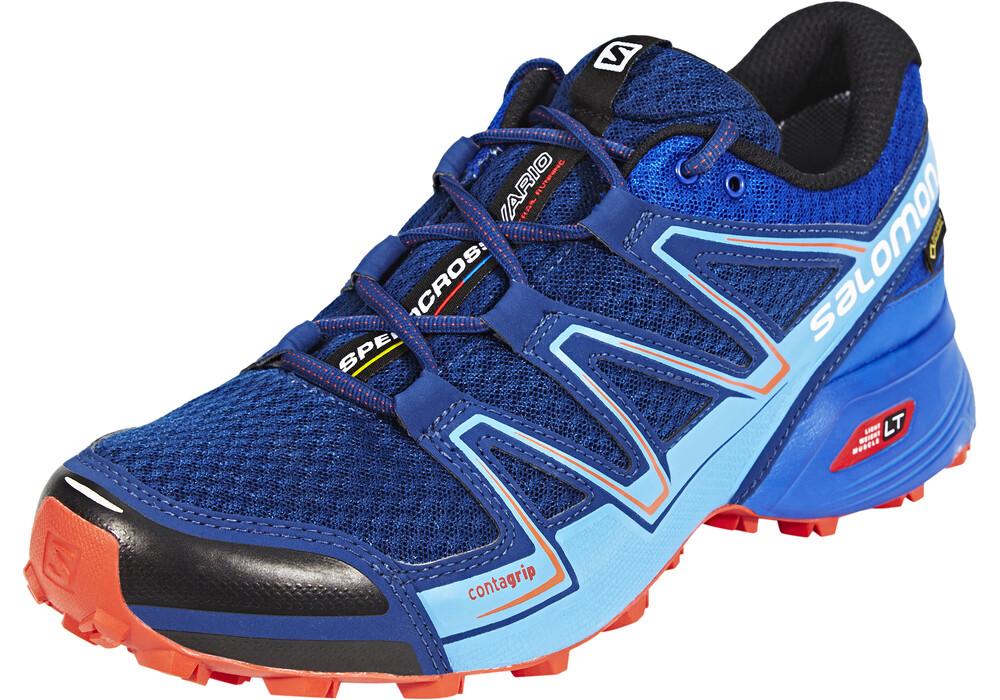 salomon speedcross vario gtx chaussures de running homme bleu sur. Black Bedroom Furniture Sets. Home Design Ideas