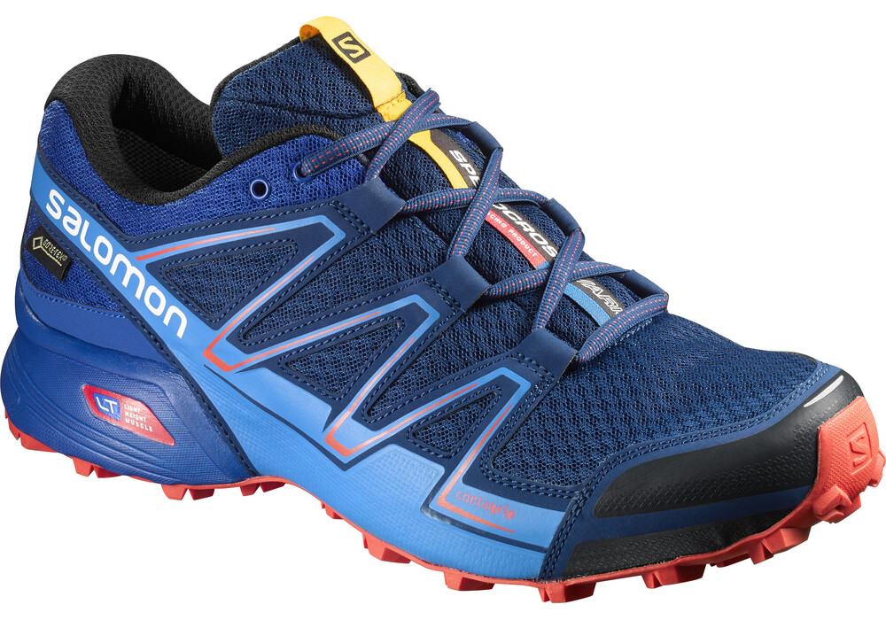 salomon speedcross vario gtx chaussures de running homme bleu sur. Black Bedroom Furniture Sets. Home Design Ideas
