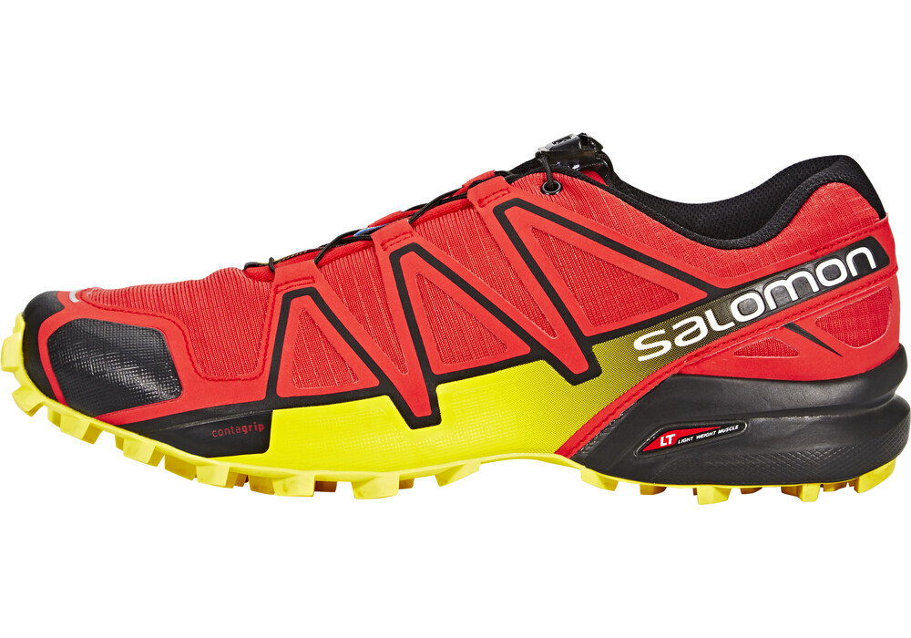 salomon speedcross 4 chaussures de running homme jaune rouge sur. Black Bedroom Furniture Sets. Home Design Ideas