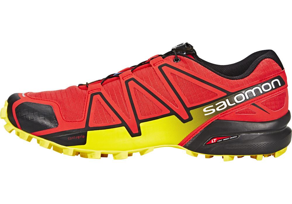 salomon speedcross 4 chaussures de running homme jaune rouge sur. Black Bedroom Furniture Sets. Home Design Ideas