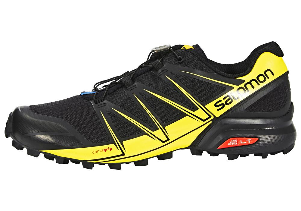 salomon speedcross pro chaussures running homme jaune noir sur. Black Bedroom Furniture Sets. Home Design Ideas