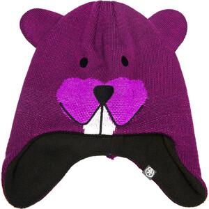 Color Kids Reaver Mini Mütze Kinder dark purple dark purple