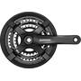 Shimano FC-TY501 Kurbelgarnitur 6/7/8-fach 48-38-28 Zähne mit Kettenschutzring schwarz