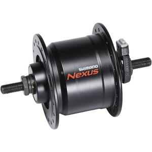 Shimano Nexus DH-C3000-3N Dynamo de moyeu 3 Watt pour freins sur jante/axe de vissage, black black