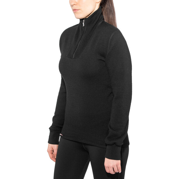 Woolpower 400 Zip Rollkragen black