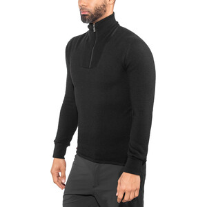 Woolpower 400 Zip Turtle Neck Herren black black