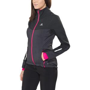 Salomon Pulse Softshell Jacke Damen black/yarrow pink black/yarrow pink