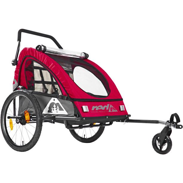 Red Cycling Products PRO Kids BikeTrailer Kinderanhänger rot/grau