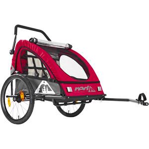 Red Cycling Products PRO Kids BikeTrailer Barncykelvagn röd/grå röd/grå