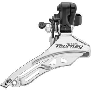 Shimano Tourney FD-TY300 Dérailleur avant Collier de serrage haut 3x6 / 7 vitesses Top Pull, noir/argent noir/argent
