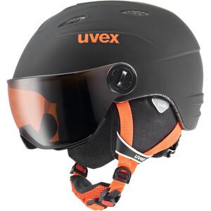 UVEX Junior Visor Pro Helm Kinder black-orange mat black-orange mat