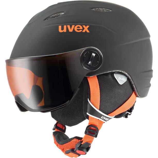 UVEX Junior Visor Pro Helm Kinder black-orange mat