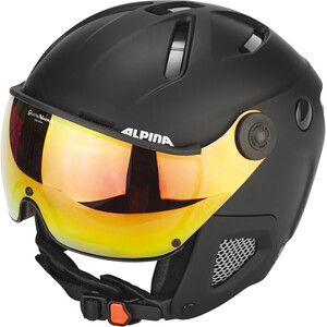 Alpina Attelas Visor QVM Helm, zwart zwart