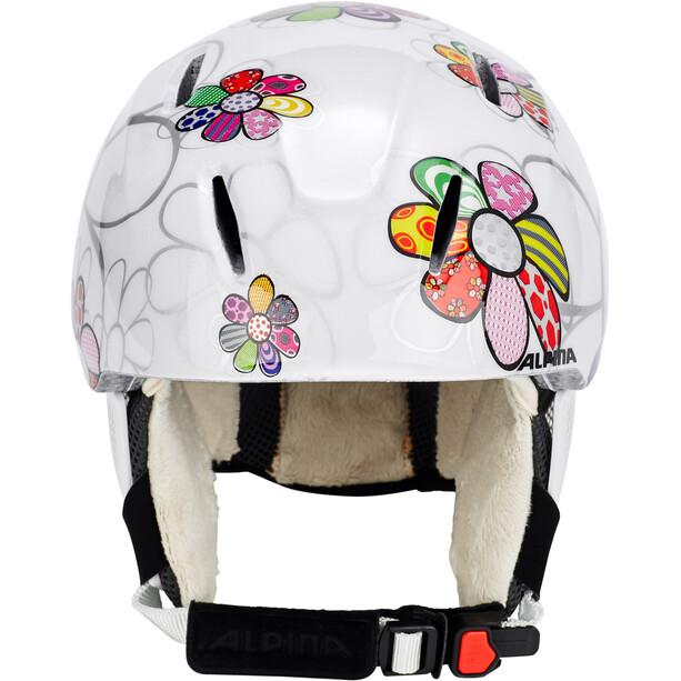 Alpina Carat LX Skihelm Kinder patchwork-flower