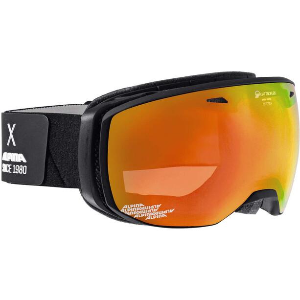 Alpina Estetica QMM Laskettelulasit, musta/oranssi