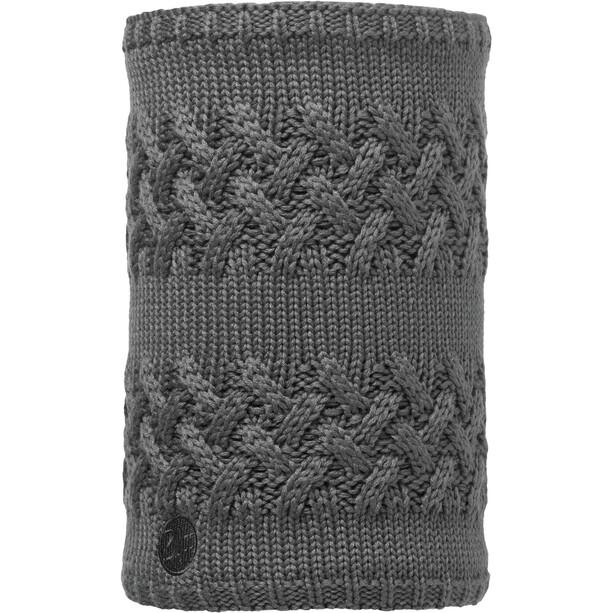 Buff Savva Knitted & Polar Fleece Neckwarmer Damen grey castlerock