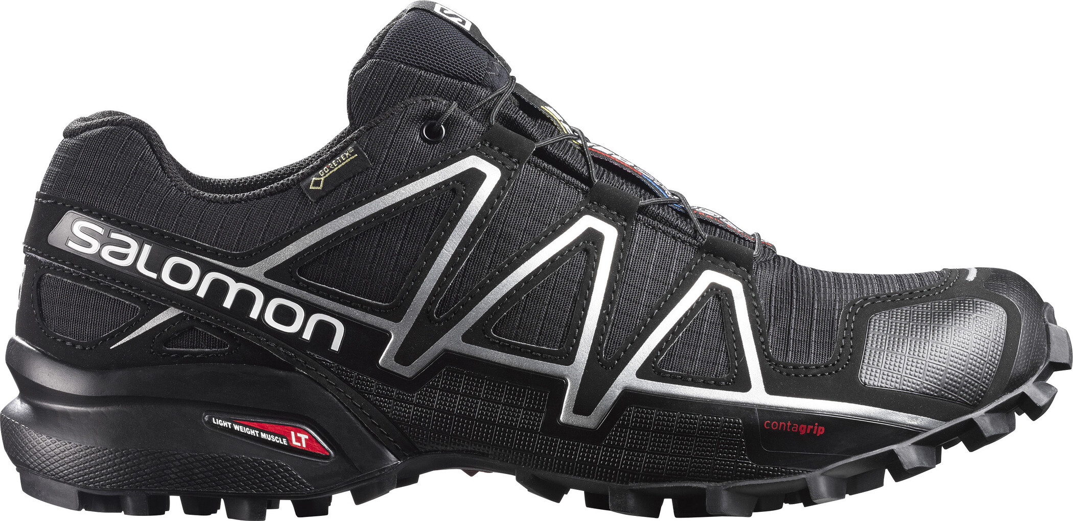 Salomon Speedcross 4 GTX Shoes Herr blackblacksilver metallic x